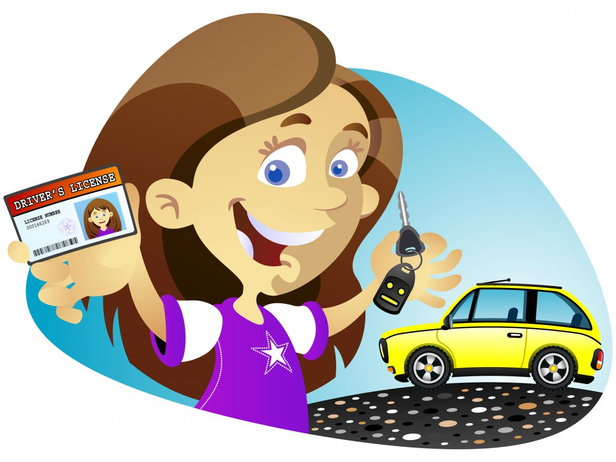 New Girl Driver Cartoon